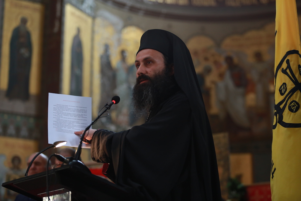 Who is more important in the Abkhaz Church. Photo of Archimandrite Dorotheus