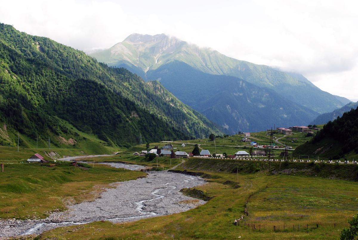Осетинское горное село Даллаг Рук