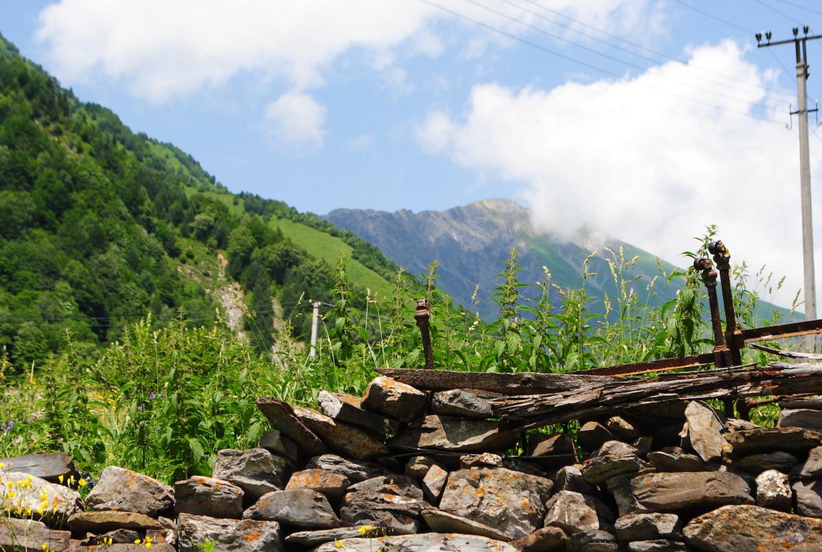 Осетинское горное село
