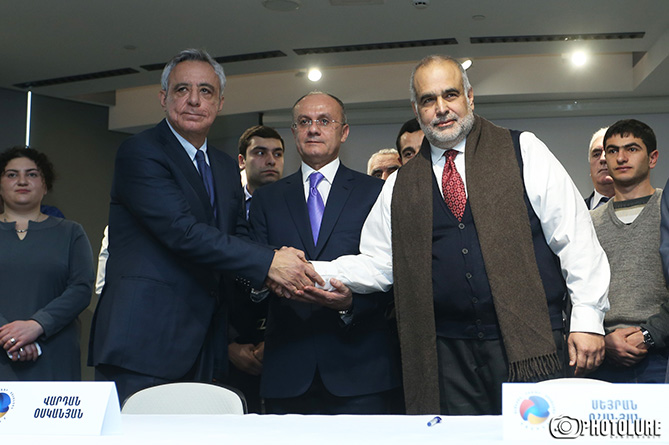 Ceremony of signing a memorandum on the establishment of 'Ohanyan-Raffi-Oskanian' Alliance took place at DoubleTree by Hilton Hotel