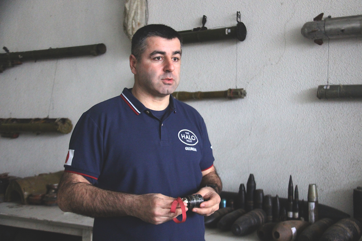 Irakli Chitanava, the Programme Manager at Halo Trust,. Mine clearance, the August war in Georgia