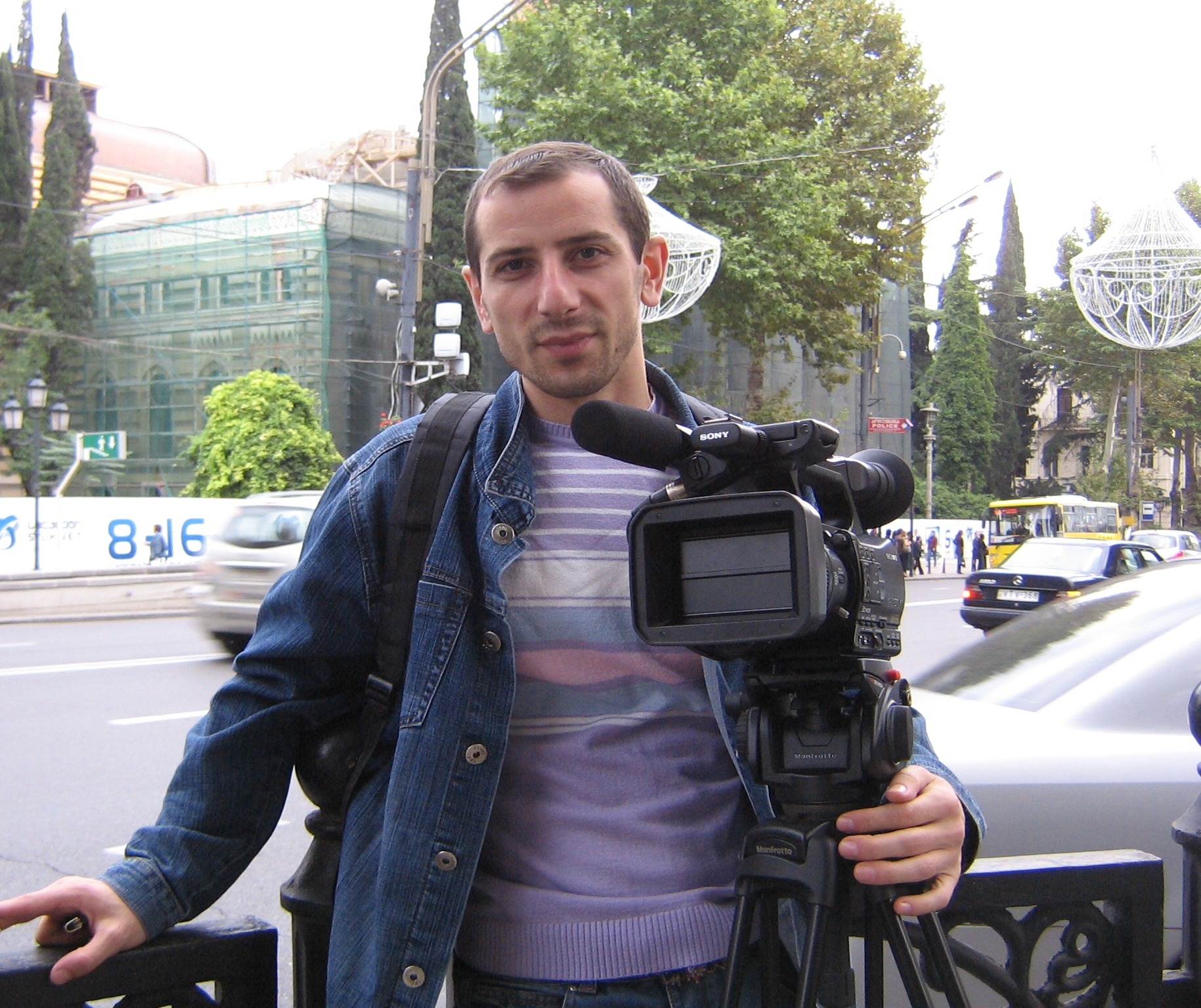 Co-director Arsen Gasparyan. Documentary films about the Karabakh war