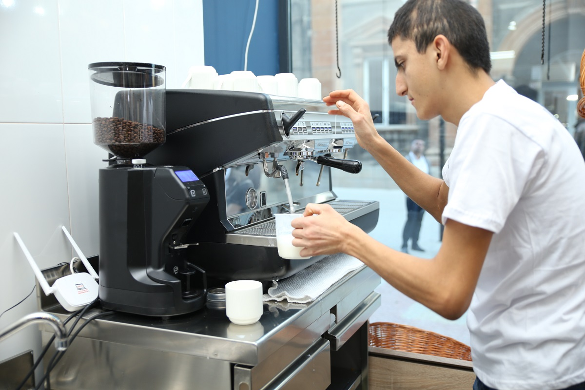 Armenia, cafe employs people with a number of disabilities such as Down syndrome, autism