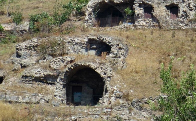 Goris, Armenia, Old Goris, caves,