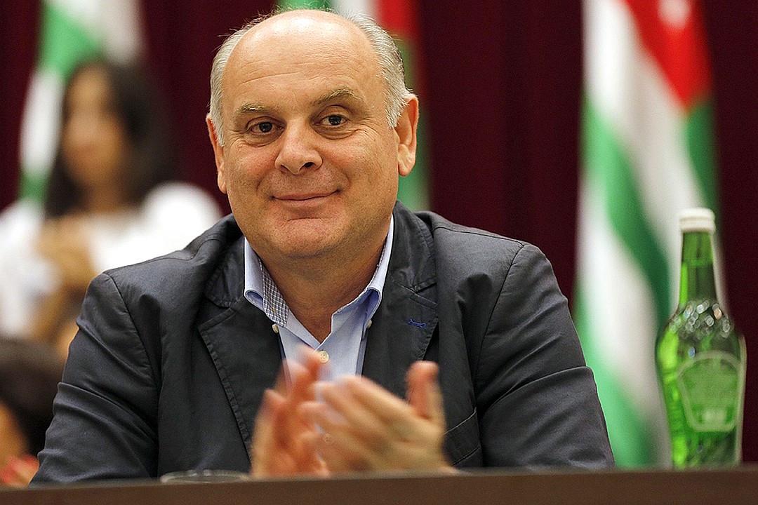 Aslan Bzhania, leader of the united Abkhaz opposition