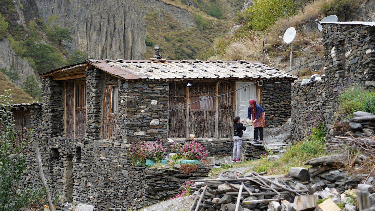 The house of the Daiauri family in the village of Mutso, Georgia. Migration from mountain villages. Shatili, Georgia. Photo: David Pipia, JAMnews