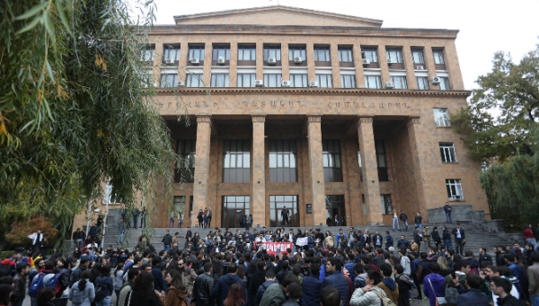 Araik Harutyunyan, Armenian, Yerevan State University, strike, optional subjects, higher education, university,