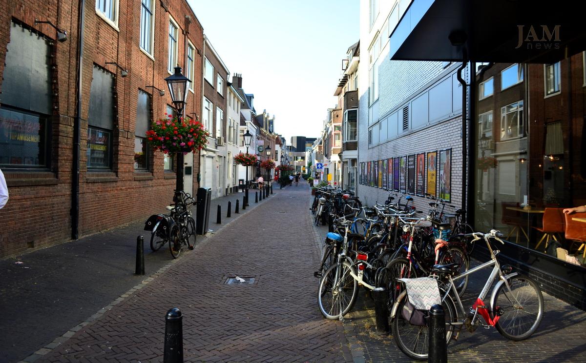Улица в Утрехте, Нидерланды. Велосипеды. Utrext velosipedlər. Utrecht bikes, The Netherland