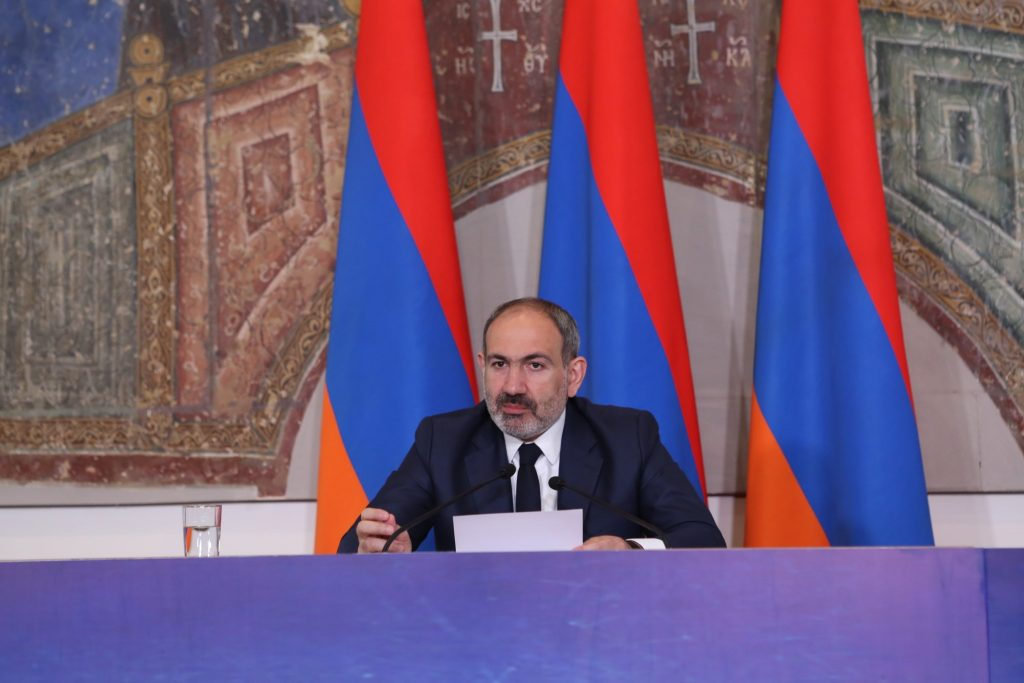 Никол Пашинян на пресс-конференции отвечает на вопросы армянских журналистов