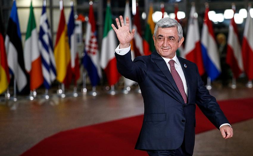 Սերժ Սարգսյան, Հայաստանի նախագահ, Նիկոլ Փաշինյան