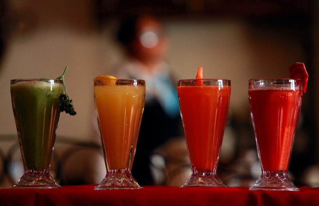 Freshly-made juices