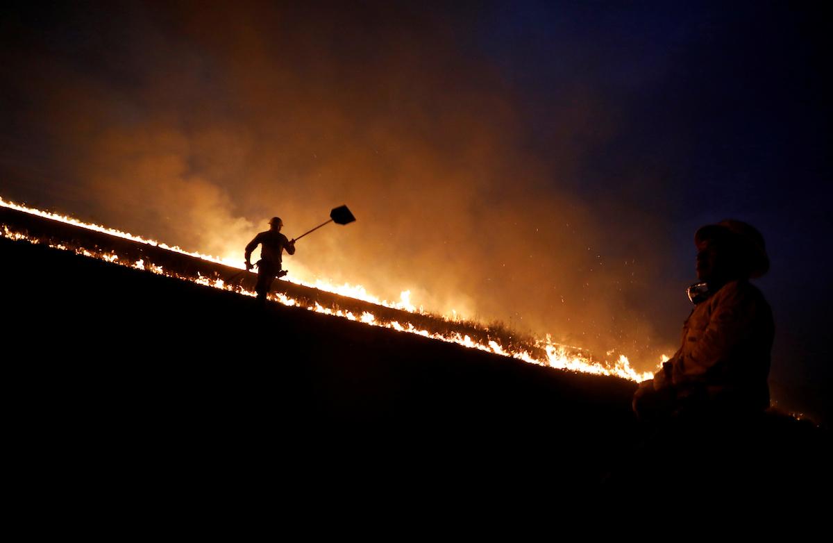 лесные пожары в Бразилии