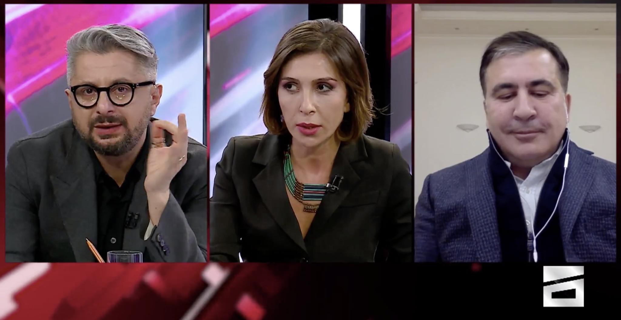 Mixeil Saakaşvili, Nika Gvaramia, Eka Kvesitadzeმიხეილ სააკაშვილი, ნიკა გვარამია, ეკა კვესიტაძე