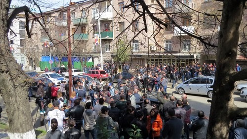 Акция протеста, проведенная 5 апреля