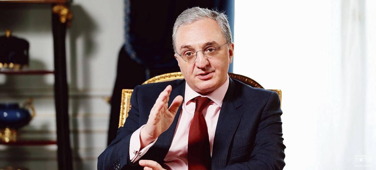 МИД Армении, министр иностранных дел Зограб Мнацаканян, армяно-азербайджанская граница, эскалация, Тавуш, Tavushstrong, телекомпания Sky News Arabia, интервью,