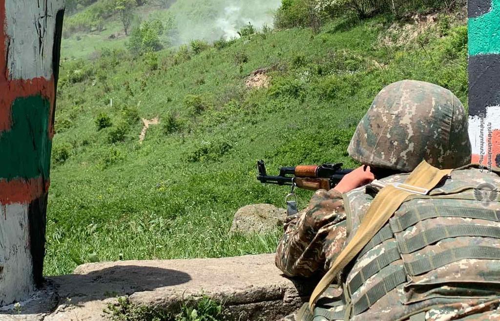 Армения, Азербайджан, граница, обстрел, нарушение границы, минобороны,