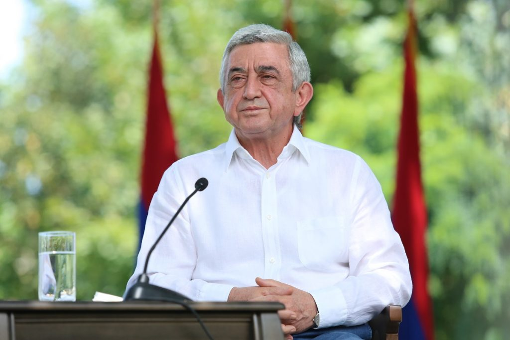 : Ex-president, Serzh Sargsyan, April war, four-day war, Nagorno-Karabakh, escalation of tension ant the line of contact between Armenian and Azerbaijani armed forces in Nagorno-Karabakh,