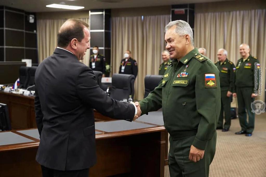 военное сотрудничество Армении с Россией, встреча министров, Тоноян, Шойгу, модернизация авационной техники, штурмовики, Су-25, Международные армейские игры-2020,