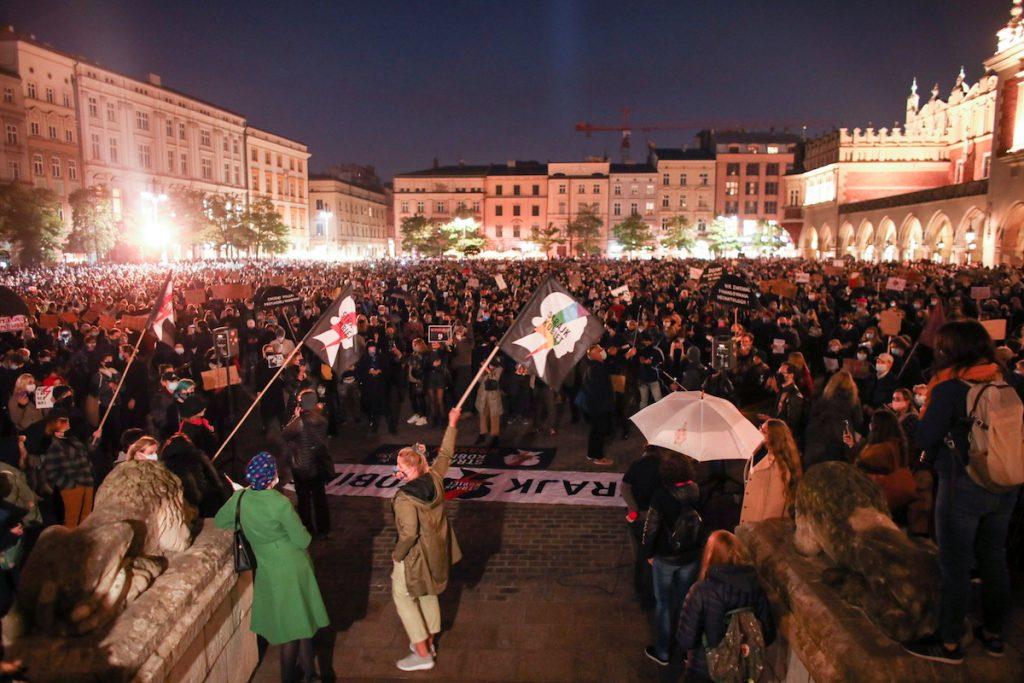 Krakovda, Polşada aborta qarşı aksiya. 23 oktyabr 2020 Jakub Wlodek/Agencja Gazeta/via REUTERS