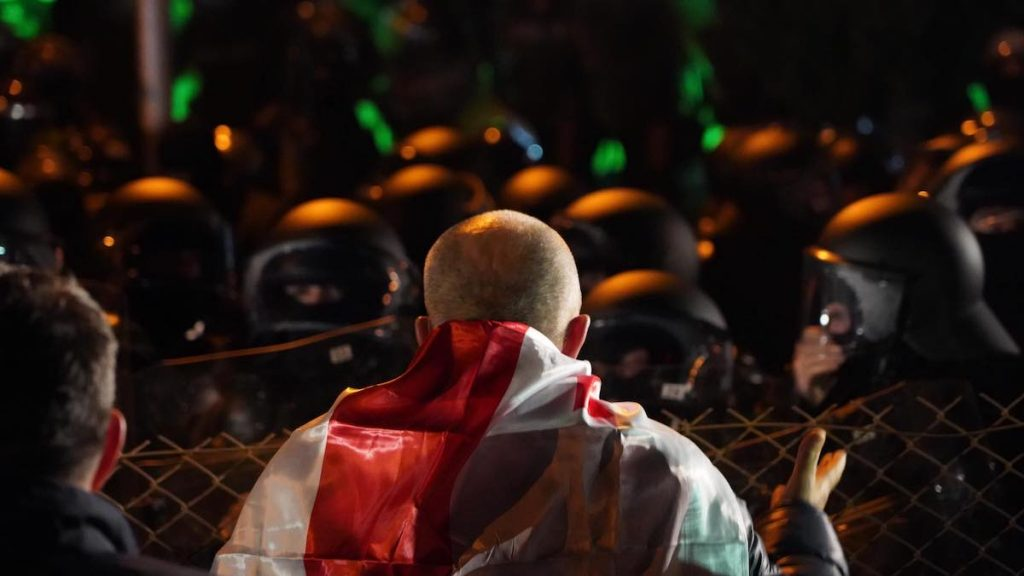 On the eve, on November 8, a large-scale rally was held in Tbilisi, which ended late in the evening with two dispersals using water cannons and tear gas.