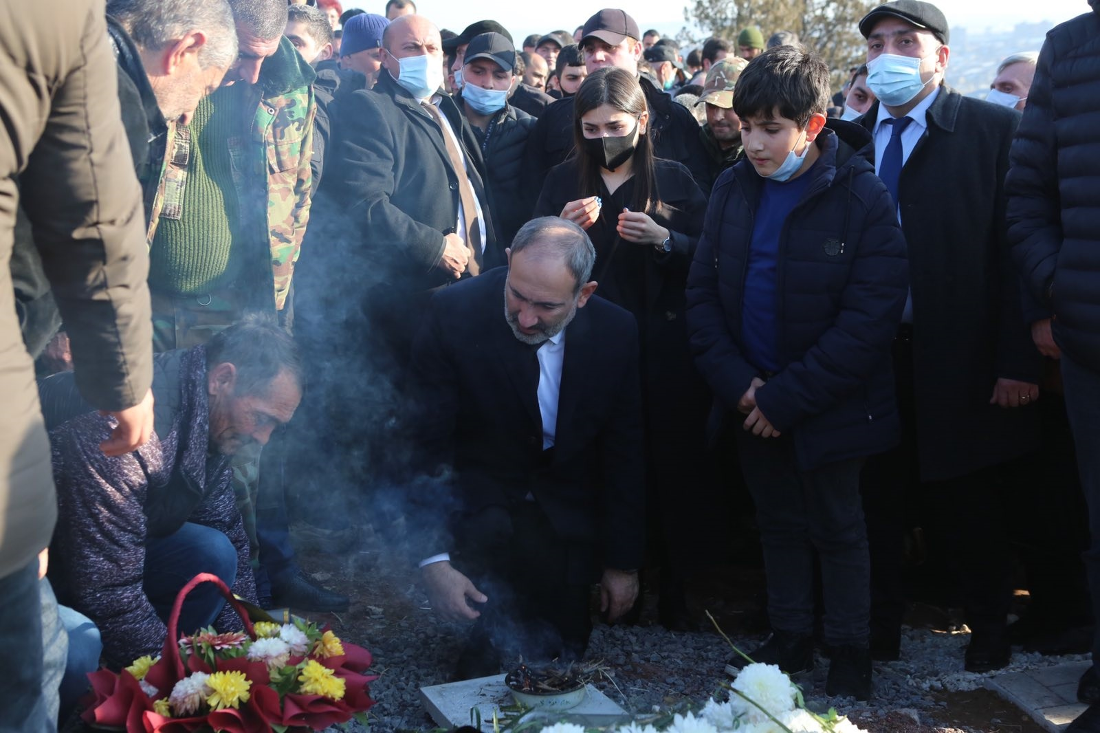 border security, Armenia, Syunik, mourning procession, protest, the first day of mourning in memory of those killed in the Karabakh war, address of the Prime Minister, Nikol Pashinyan, resignation,