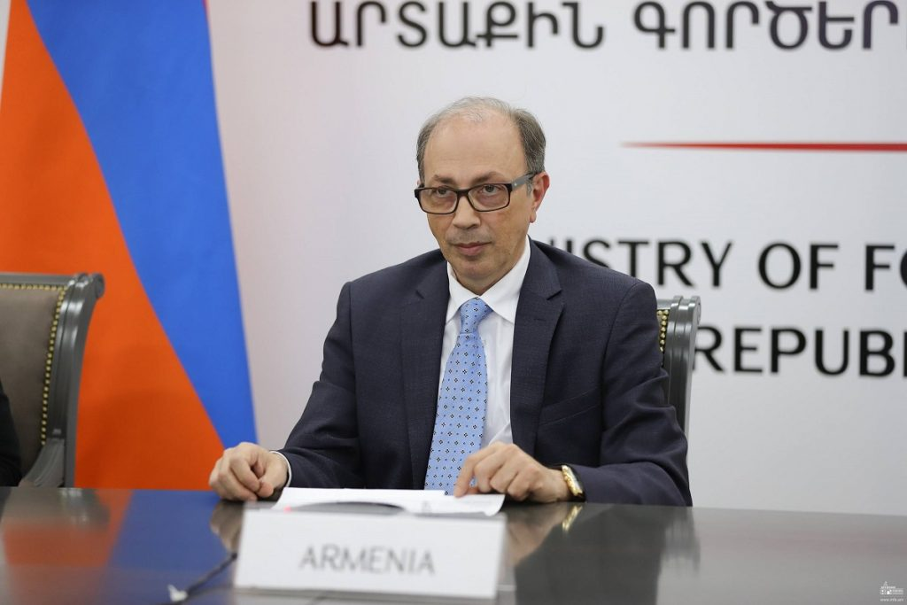 Armenia, the rights of the inhabitants of Nagorno-Karabakh, the right to self-determination, the settlement of the Karabakh conflict, the position of Armenia, the Minister of Foreign Affairs of Armenia, Ara Ayvazyan, the meeting of the OSCE Ministerial Council, Azerbaijan, Turkey, Artsakh,