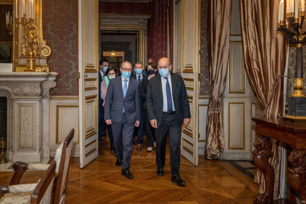 Ara Ayvazyan, MFA of Armenia, Jean-Yves Le Drian, Karabakh, war in Karabakh, second Karabakh war, statement on the cessation of hostilities in Karabakh, visit of the Minister of Foreign Affairs of Armenia to France,