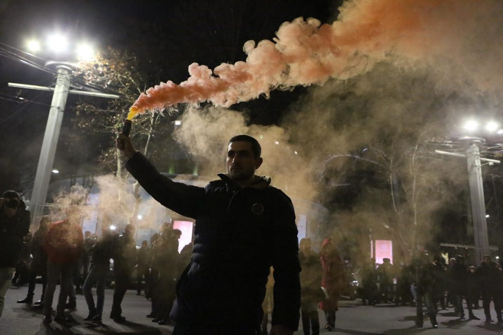 Protest actions of the opposition in Armenia