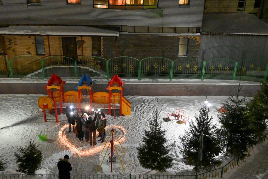 Акция в поддержку арестованного лидера российской оппозиции Алексея Навального. Омск, 14 февраля 2021. REUTERS/Alexey Malgavko