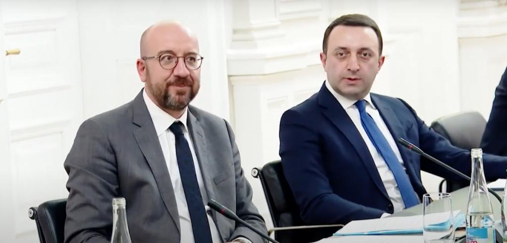 Шарль Мишель и Иракли Гарибашвили. Возобновился диалог между властью и оппозицией Грузии