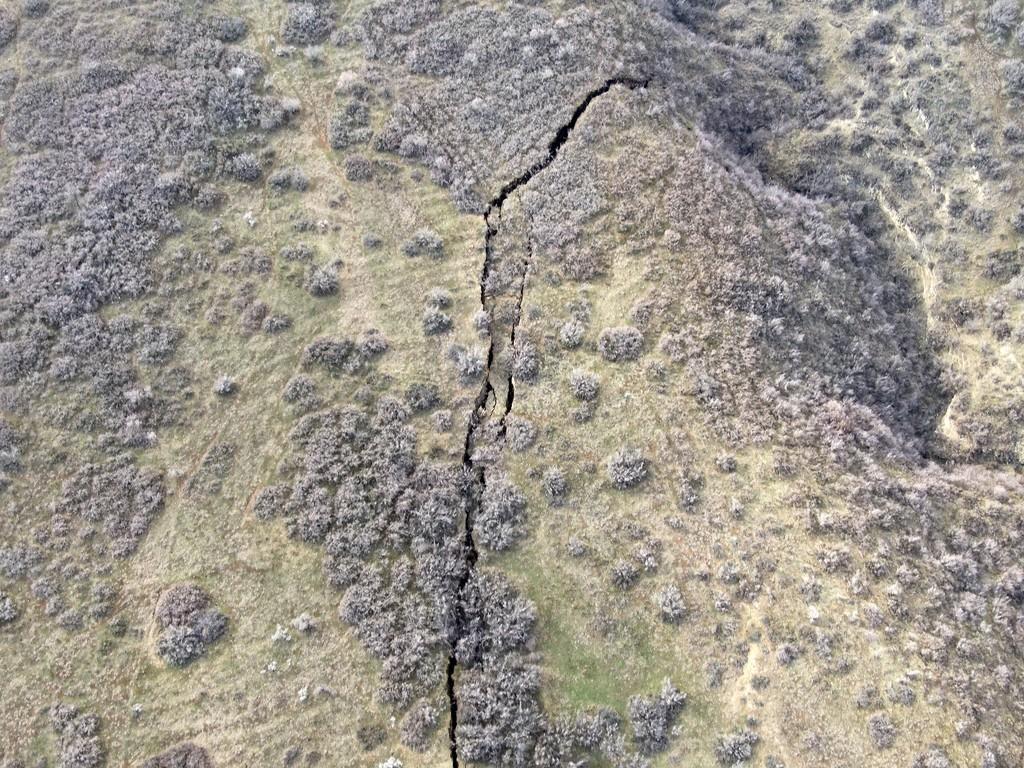 Լուսանկար Վաշլիջվարի-Նուցուբիձե լանջից, որտեղ սողանքի վտանգի գոտին է