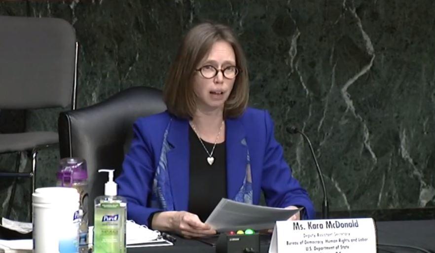 Representative of the Department of Labor Kara McDonald. Senate SSA o crisis in Georgia