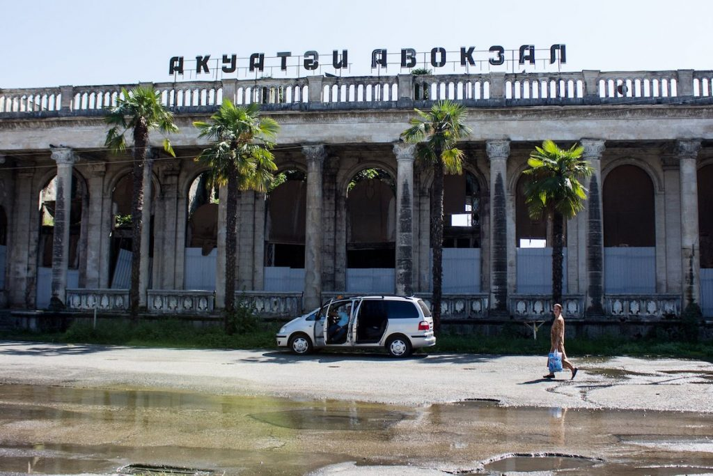 Railway station in Sukhum. Photo: Agnieszka Zielonka, JAMnews