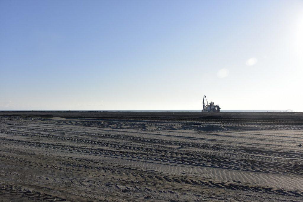 Строительство нового порта в Анаклия. Фото: Консорциум развития Анаклии