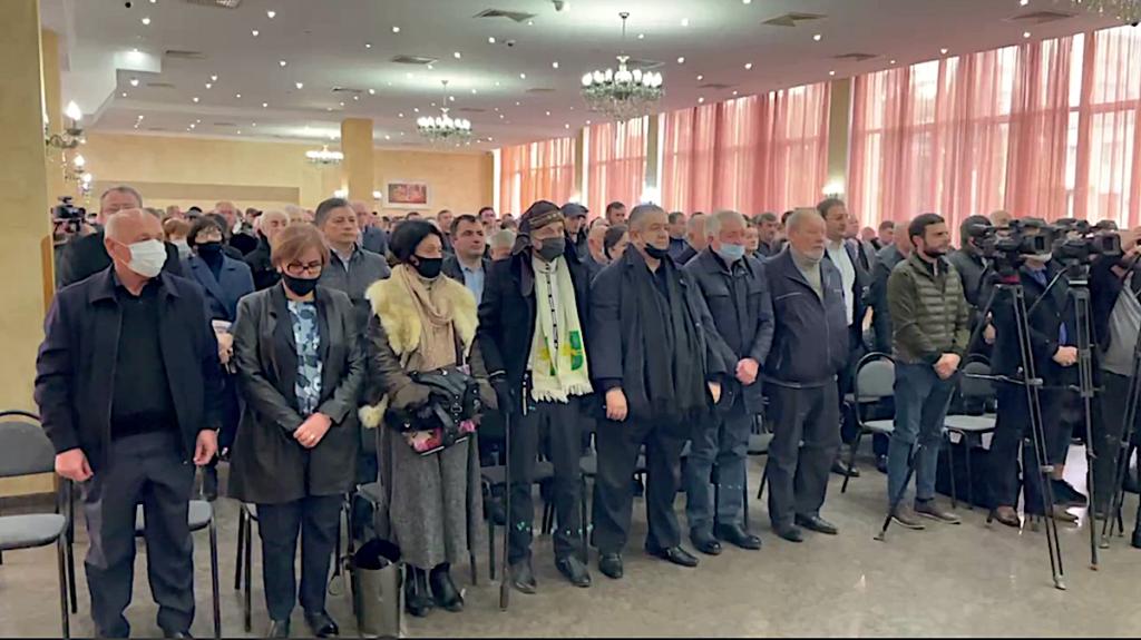 "The opposition organization ""Aruaa"", uniting veterans of the Georgian-Abkhaz war, demands the resignation of President of Abkhazia Aslan Bzhania"