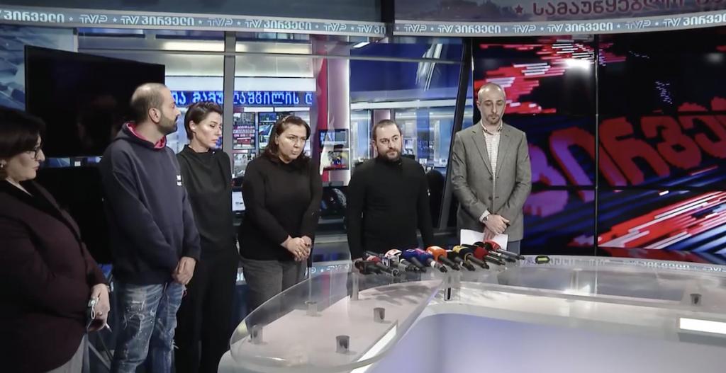 """""""Pirveli"""" TV komandası media üçün bəyanat verir"""