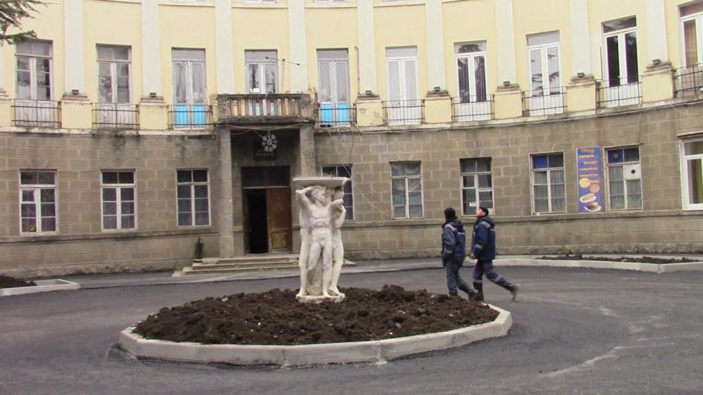 'Iriston' hotel in South Ossetia. The Soviet symbols still present in the Caucasus
