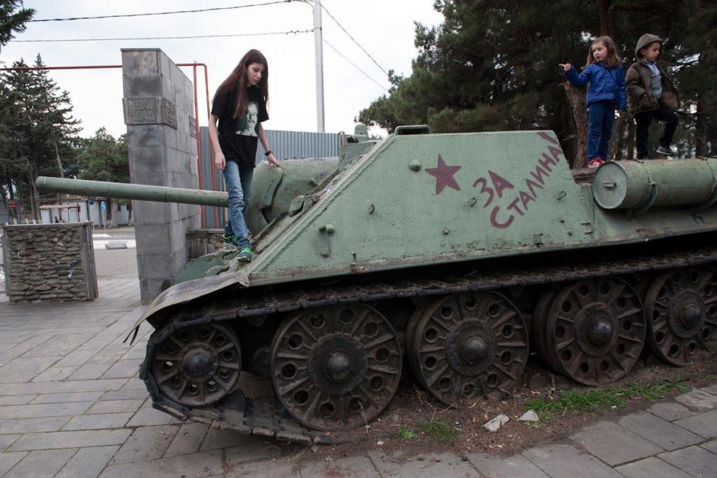 Soviet tank in Tbilisi. Photo by Yana Korbazashvili. The Soviet symbols still present in the Caucasus
