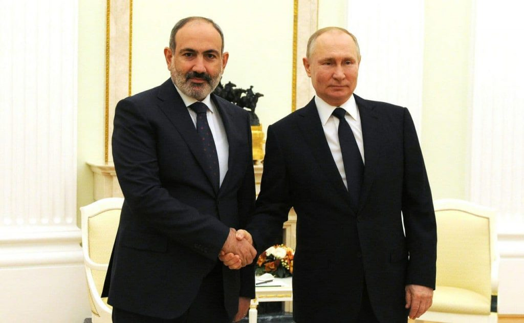 meeting of Putin and Pashinyan in Moscow
