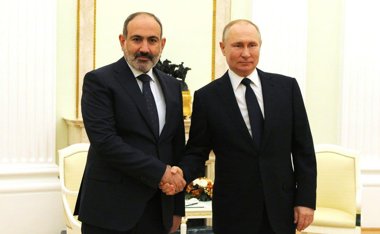 Moskvada Putin və Paşinyan görüşü