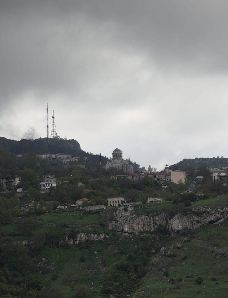 Շուշիի առանց գմբեթների Ղազանչեցոց վանքի լուսանկարները