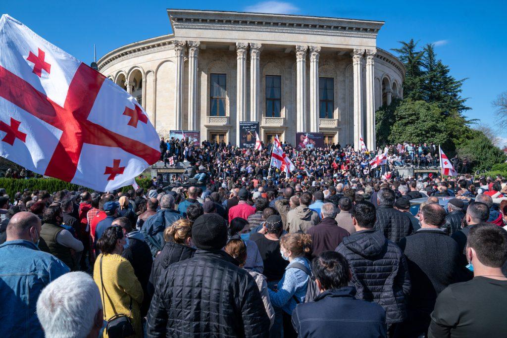 Demonstration in Kutaisi. Photo by Vakho Kareli