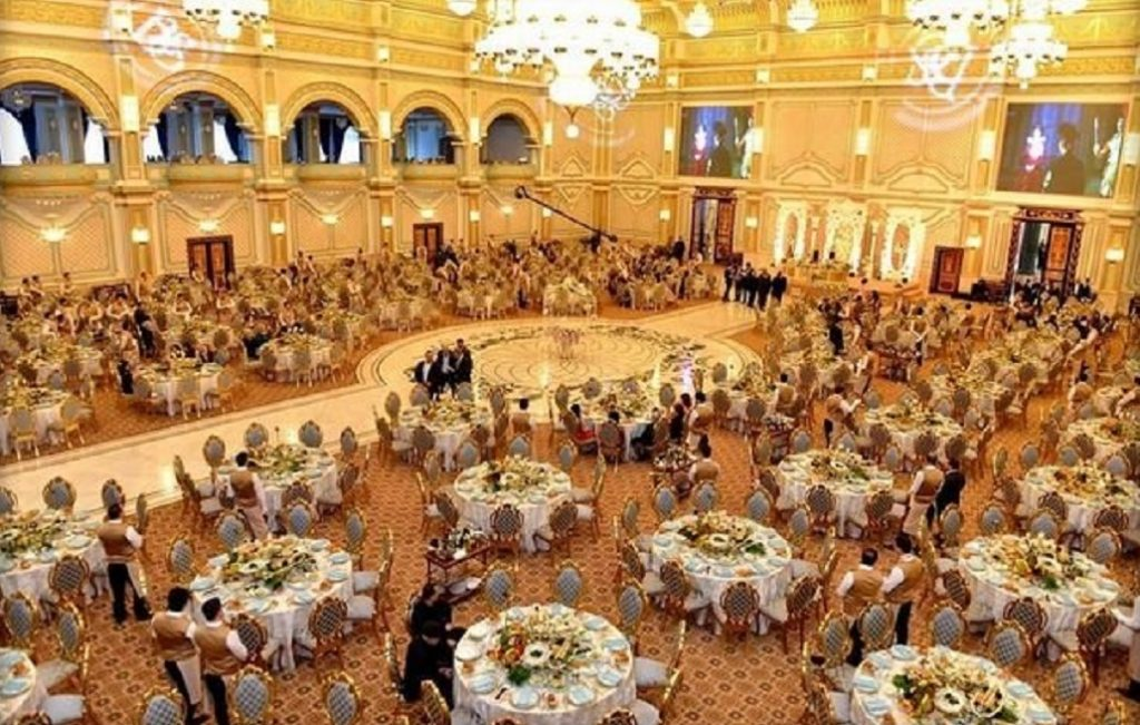 serving food or drinks at weddings may be banned