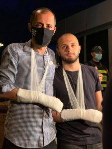 Активисты Макарашвили  и Парулава. Фото: Саломе Баркер
