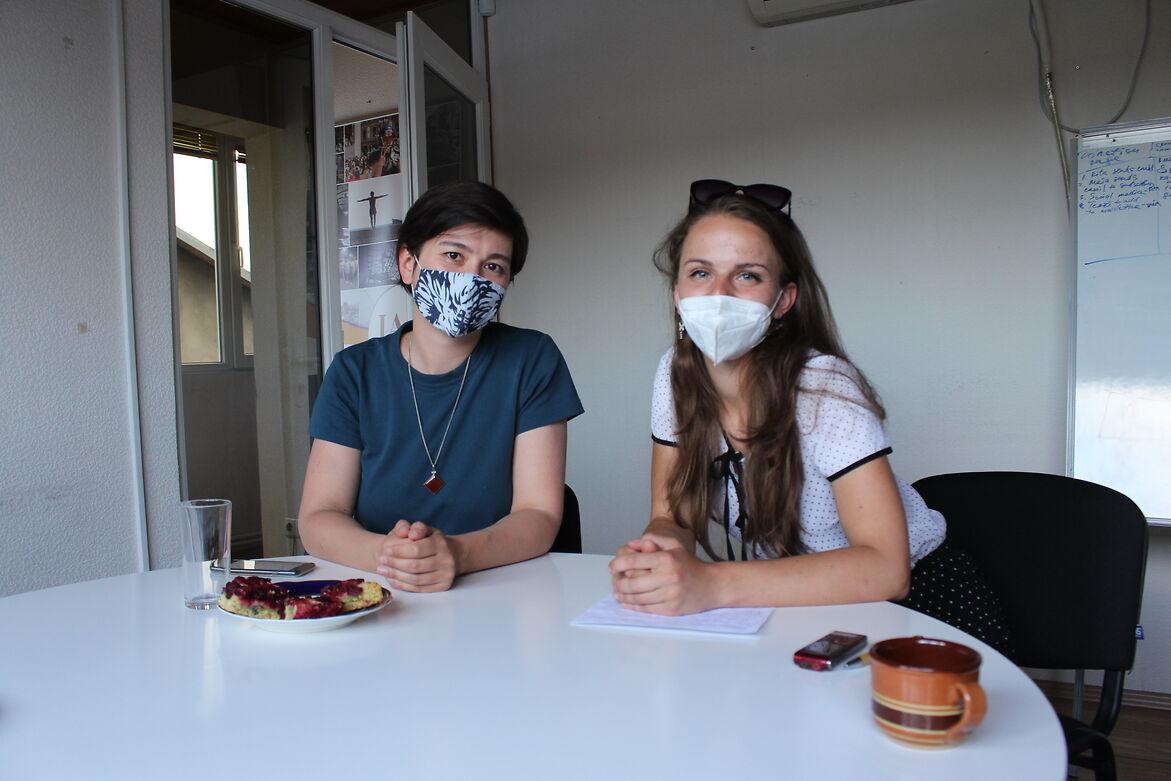 Mariam Pesvianidze and Tatiana Remneva -Waste reduction, recycling, 'Parki Ar Minda'