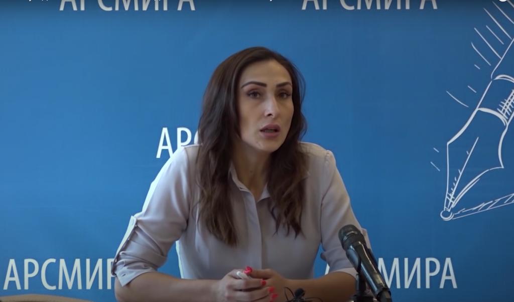 Адвокат Жанна Шенкао, Сухум. Кадр Абаза-ТВ.