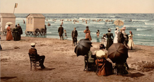 პლაჟი ბიარიცში, საფრანგეთში, 1922 წ.