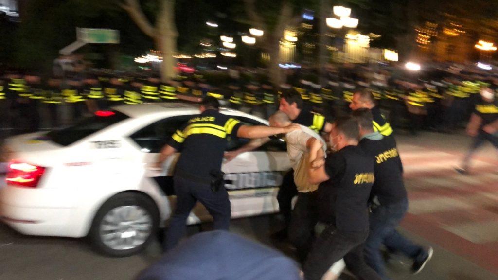 Более 100 ультра-правых задержаны в Тбилиси. Фото Netgazeti
