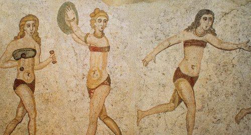 რომაული მოზაიკა სიცილიიდან, მე-4 საუკუნე.