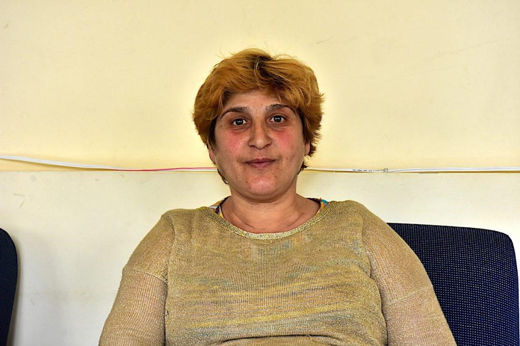 Karine Melkonyan at a hostel in Gyumri. Photo by Alexander Martirosyan